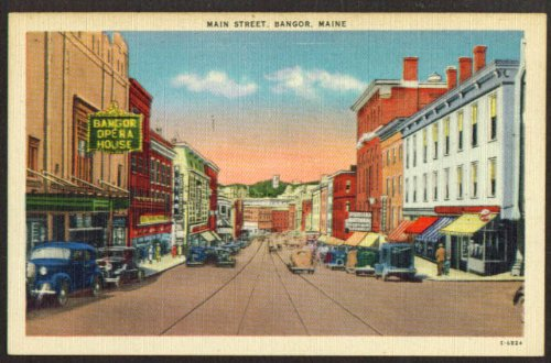 Opera House Puritan Store Main Street Bangor ME postcard - Bangor Stores