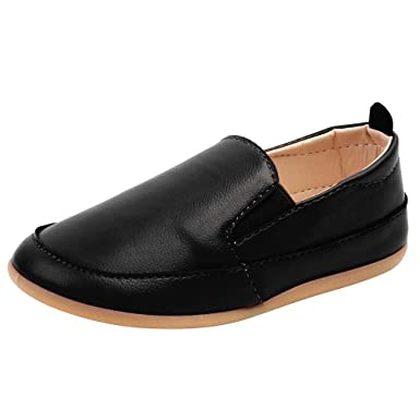 b342592591bc Amazon.com  Boys Leather Shoes Casual Slip On Soft Sole Loafers ...