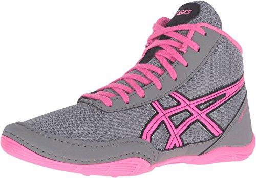 ASICS Matflex 5 GS Skate Shoe (Little Kid/Big Kid), Aluminum/Hot Pink/Black, 10