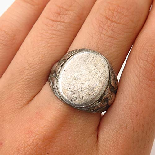 VTG WW2 Sterling Silver Army Military Signet Ring Size 8.5 Jewelry by Wholesale Charms