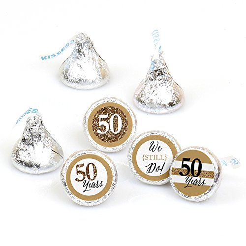We Still Do - 50th Wedding Anniversary - Party Round Candy Sticker Favors – Labels Fit Hershey's Kisses (1 sheet of 108)