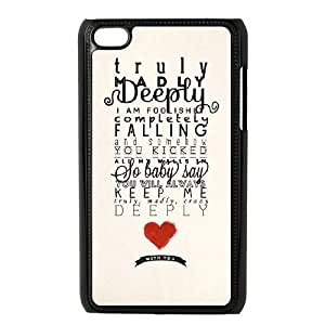 wugdiy Brand New Phone Case for iPod Touch 4 with diy One Direction Quotes