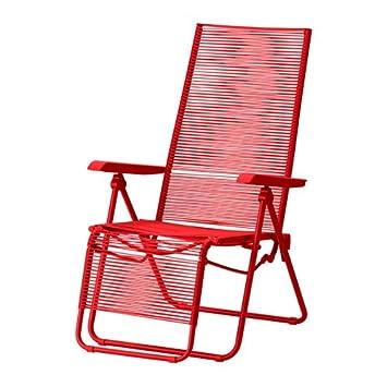 Ikea Vasman Chaise Longue Exterieur Rouge Amazon Fr Cuisine