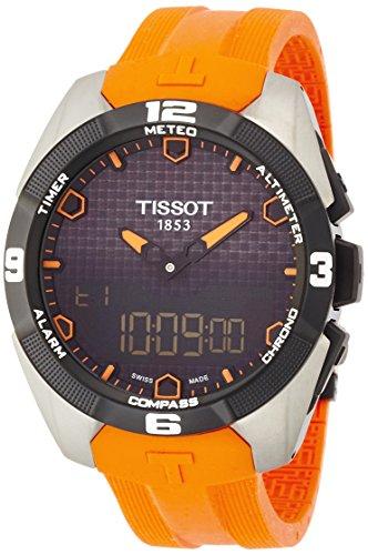 (Tissot Men's T0914204705101 Analog-Digital Display Quartz Orange Watch)