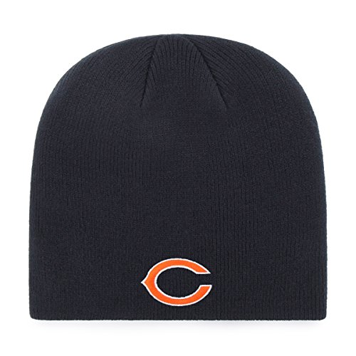 - OTS NFL Chicago Bears Beanie Knit Cap, Navy, One Size