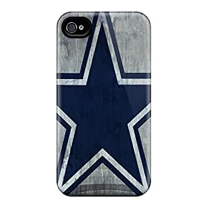 Scratch Protection Cell-phone Hard Cover For Iphone 4/4s (Ymw7384rxEY) Allow Personal Design Vivid Dallas Cowboys Series