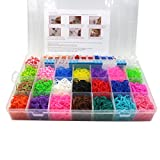 4400Pcs Colorful Rubber Band Refill Kit for Loom Rainbow Bracelets Dress Making