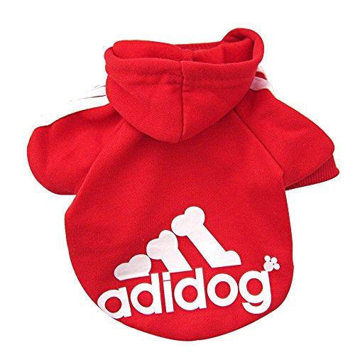 Easy Tauriel Costume (Fleece Dog Hoodies,Rdc Pet Apparel, Adidog Basic Hoodie Sweater, Cotton Jacket Sweat shirt Coat for Small Dog & Medium Dog & Cat (XXL, Red))