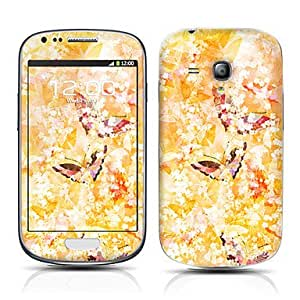 Piaopiao Golden Butterfly Pattern Front and Back Protector Stickers for Samsung Galaxy S3 mini I8190