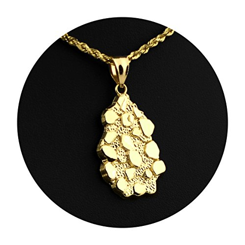 LoveBling 10K Yellow Gold Nugget Charm Pendant (1.60