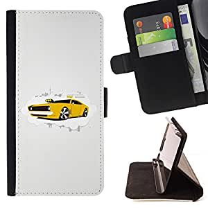 For Sony Xperia m55w Z3 Compact Mini Cool Muscle Car Beautiful Print Wallet Leather Case Cover With Credit Card Slots And Stand Function