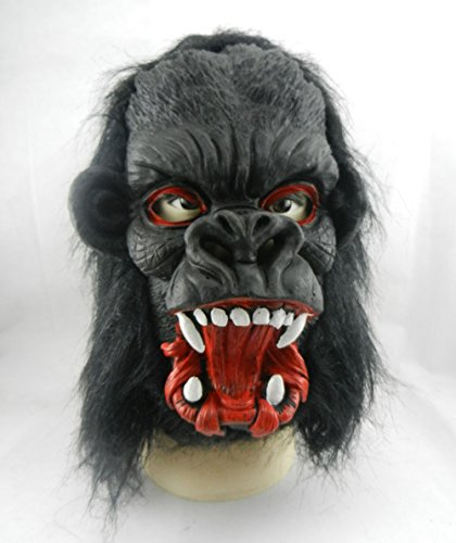 GlowSol Halloween Gorilla with Big Ears Mask Latex Animal Costume Toys Open Its mouth (Really Scary Halloween Costumes For Kids)