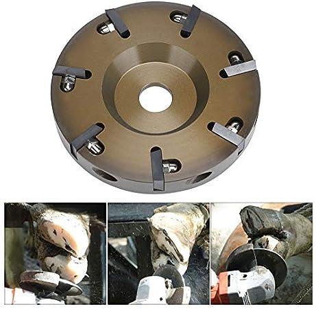 AUNMAS Herramientas de Pinza de pezuña Aleación de Aluminio eléctrica Ganado Ovejas Ganado Caballos Herramienta de Placa de Disco de Recorte de pezuña con 7 Cuchillas(Hoof Knife Tool)