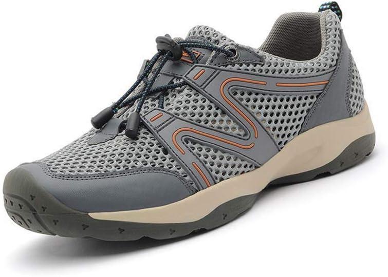 HYLFF Zapatillas de Senderismo para Hombres, Zapatillas de Deporte al Aire Libre Sandalias de Alpinismo Zapatos Huecos Transpirables Senderismo de Verano Zapatos de Playa,Gray,45EU: Amazon.es: Deportes y aire libre