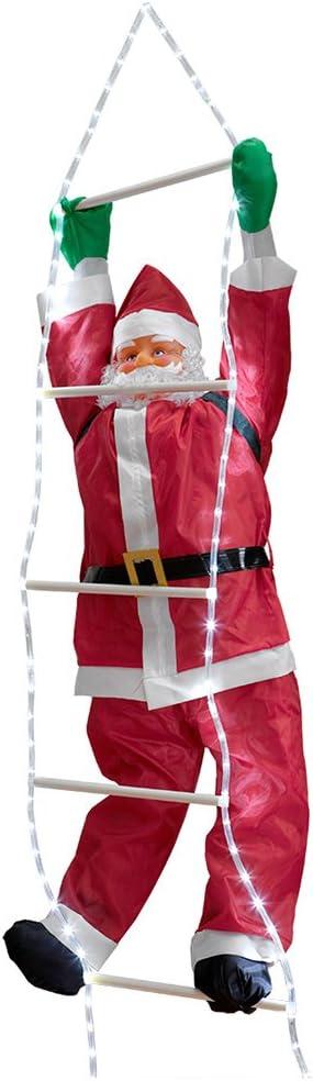 en.casa] Papá Noel en la Escalera LED de 250cm a 120cm decoración para Navidad: Amazon.es: Hogar