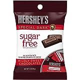 HERSHEY'S Sugar Free SPECIAL DARK Mildly Sweet Chocolate Bars, 3 oz (Pack of 6)