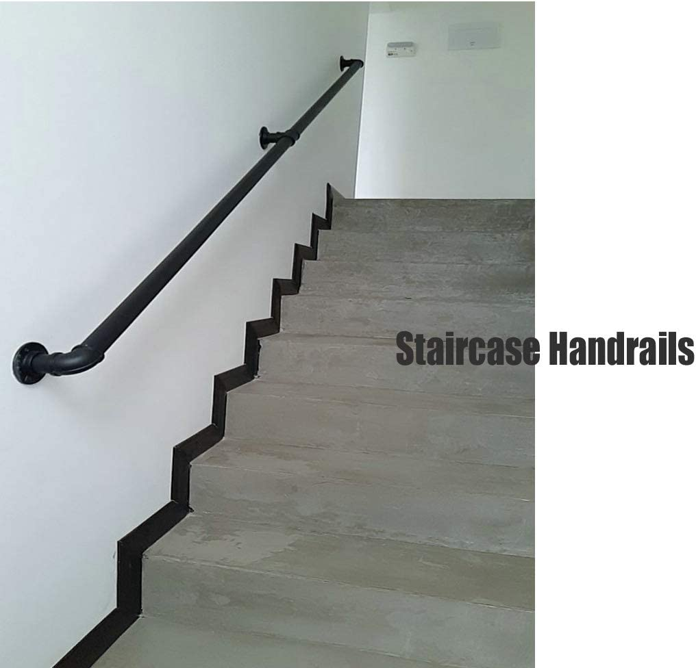 Treppen Handlauf Eisen verzinktes Rohr Komplette Kit Dachboden Gel/änder Bar Retro Schmiedeeisen Metall Handlauf Alte rutschfeste Kindergarten Gel/änder