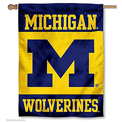 Michigan Wolverines Banner House Flag - Double Sided Pole