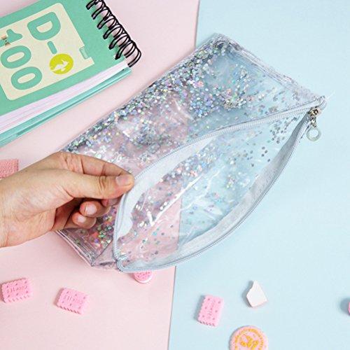 Dazzle Style Enveloppe PVC Lady Sac LUOEM Sac Transparent Filles Zipper Bandoulière Pouch à Cas Femmes Bandoulière Sac à Messenger pour SxYqgq0wd