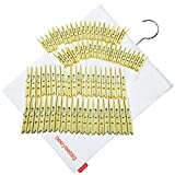 neeyeetag Clothespins Large Size 3.74'' 40 Pack and Medium Size 2.36'' 40 Pack, Natural Bamboo Heavy Duty, with a Hanging Canvas Bag