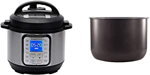 Instant Pot Duo Plus Mini 9-in-1 Electric Pressure Cooker, Sterilizer, Slow Cooker, Rice Cooker, 3 Quart, 13 One-Touch Programs & Ceramic Non Stick Interior Coated Inner Cooking Pot Mini 3 Quart