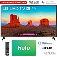 LG 55UK6300 55 UK6300 4K HDR Smart LED AI UHD TV w/ThinQ Gift Card & Extended Warranty Pack