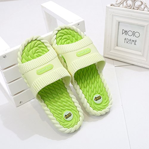 fankou Home Slip Base Home Massage Bathroom Summer Male Cool Anti Slippers Men Bath Green Fruit 40 Soft Interior Slippers vrwqOxvg