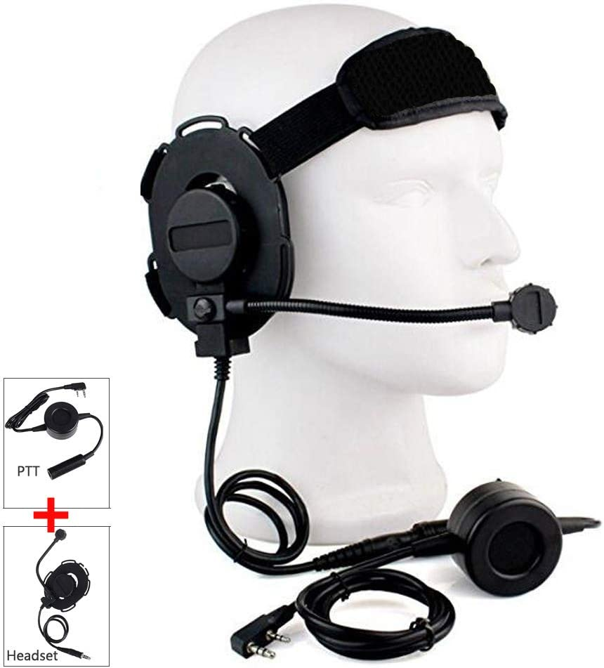 Headset and U94 PTT Set, HD01 Z Tactical Bowman Elite