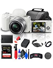 $839 » Sony ZV-E10 Mirrorless Camera with 16-50mm Lens (White) (ILCZV-E10L/W) + 64GB Memory Card + Bag + Card Reader + HDMI Cable + Flex Tripod + Hand Strap + Memory Wallet + Cleaning Kit