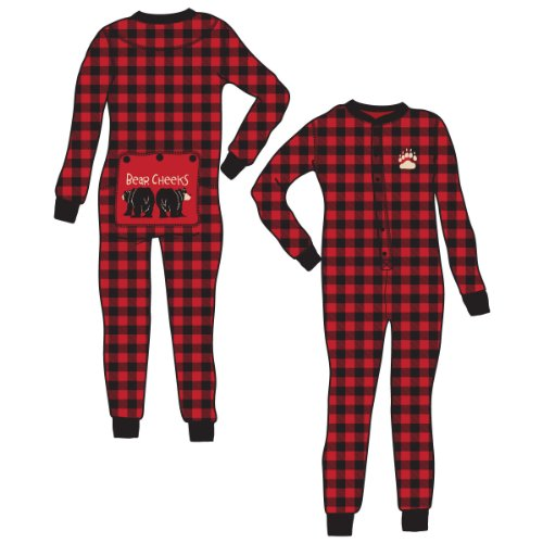 'Bear Cheeks' Drop Seat Christmas Pajamas for Families