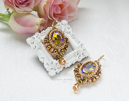 crystal-embroidered-earrings-with-swarovski-beads-and-pearlsoevening-earringsoshine-earringsooccasio