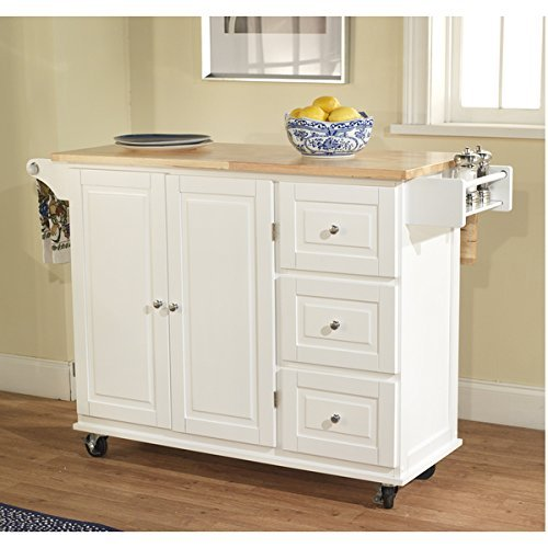 Simple Living Aspen 3-drawer Spice Rack Drop Leaf Kitchen Cart by Simple (Kitchen Island With Drop Leaf)