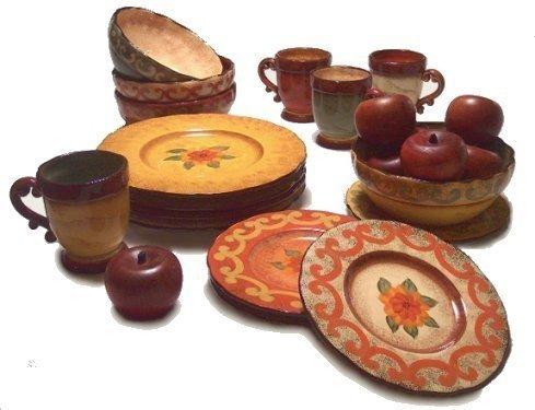 16 Pc Casa Cristina Tuscan Dinnerware Set NEW Dinner Salad Plates ...