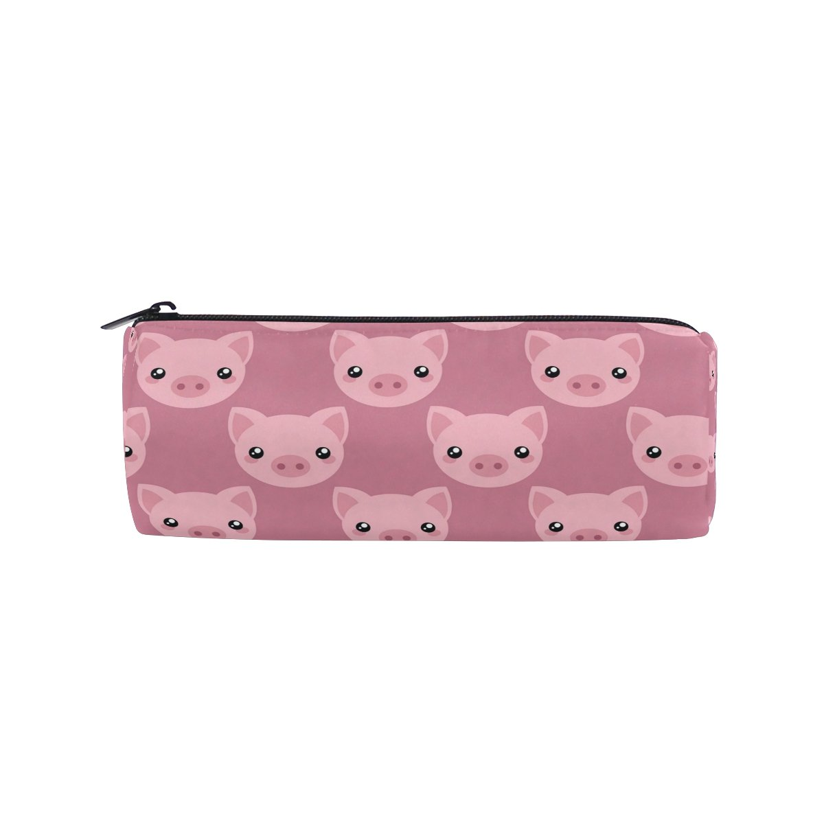ALAZA Pink Cartoon Pig Face Animal Pencil Pen Case Pouch Bag with Zipper for Girls Kids School Student Stationery Office Supplies by ALAZA (Image #1)