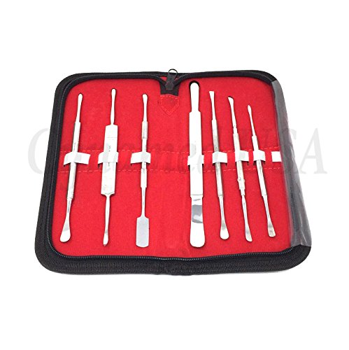 NEW SET OF 7 GERMAN STAINLESS PERIOSTEAL DENTAL ELEVATORS SURGICAL INSTRUMENTS HIGH QUALITY (SYNAMED-USA)