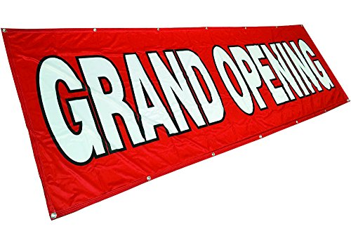 4Less 3x10 Ft Grand Opening Banner Vinyl Alternative Store Sign - Fabric rb