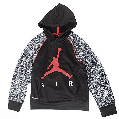 Jordan Big Boys Elephant Print Hoodie (M(10-12YRS), Black) (Plush 11 Elephant)
