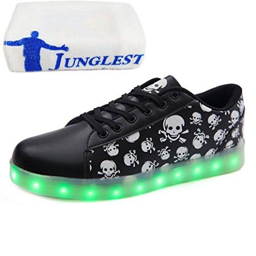 (Present:kleines Handtuch)JUNGLEST® bunt LED Leuchtend Aufladen USB Erwachsene Paare Schuhe Herbst und Winter Sport schuhe Freizeitschuhe Leucht la Schwarz