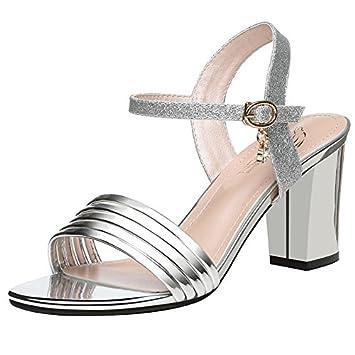 HUAIHAIZ Damen High Heels Pumps Sandalen High-Heel Damenschuhe Tau-Toe Abend Schuhe