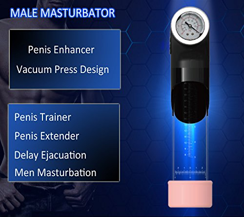 Electric Penis Enhancer USB Men Vacuum Enlargement Pump Male Masturbator Delay Penis Trainers for Man Penisgrowth Pump Electric Penisextender Length Device for Men
