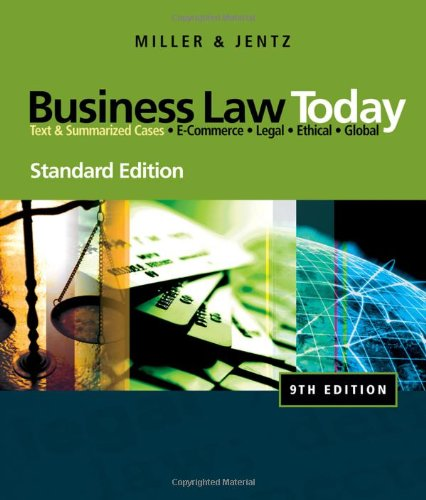 Business Law Today, Standard Edition, 9th Edition Front Cover