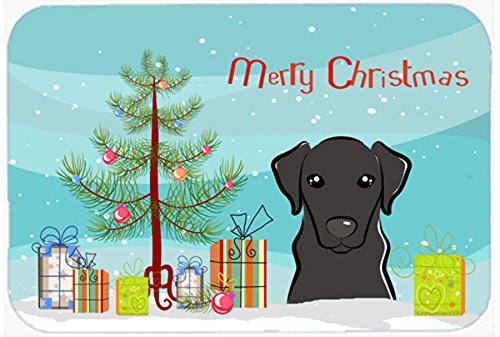 "Caroline's Treasures BB1607CMT Christmas Tree and Black Labrador Kitchen or Bath Mat, 20 by 30"", Multicolor from Caroline's Treasures"
