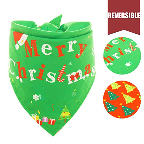 Reversible Dog Christmas Bandana