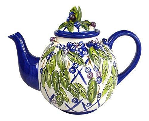Blue Sky Ceramic Heather's Blueberry Teapot, 9 x 6 x 7 by Blue Sky Ceramic (Blueberry Heather)