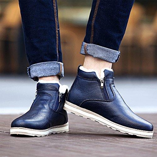 SGoodshoes Uomo Stivali Tooling Stivali in PU Pelle Invernali scarpe sneakers Marrone 39EU tGTe7d2V1