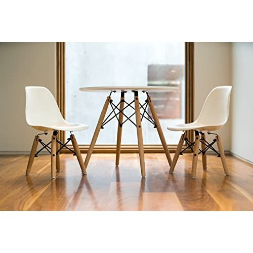 Enjoyable 80 Off Urbanmod Kids Eames Style Modern White Table Set Cjindustries Chair Design For Home Cjindustriesco