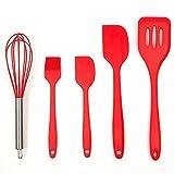 paula deen cast iron pot - Copter shop 5 pcs / set Silicone Spatula FDA Kitchen Utensils Kitchen utensils Brushes Small brushes Large wooden spatula Turner JSF-Spatulas
