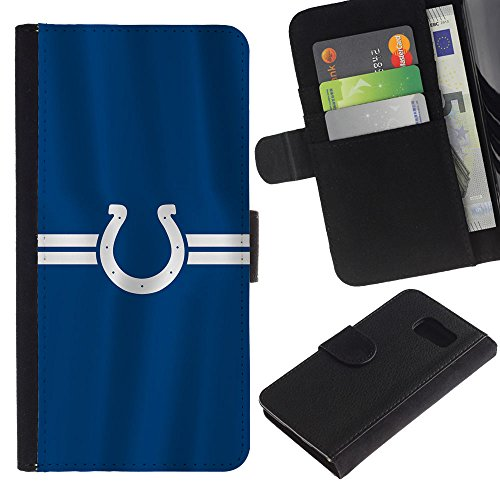 Price comparison product image Funny Phone Case / / Leather Wallet Protective Case with Slots for Money & Cards fit Samsung Galaxy S6 / Horseshoe