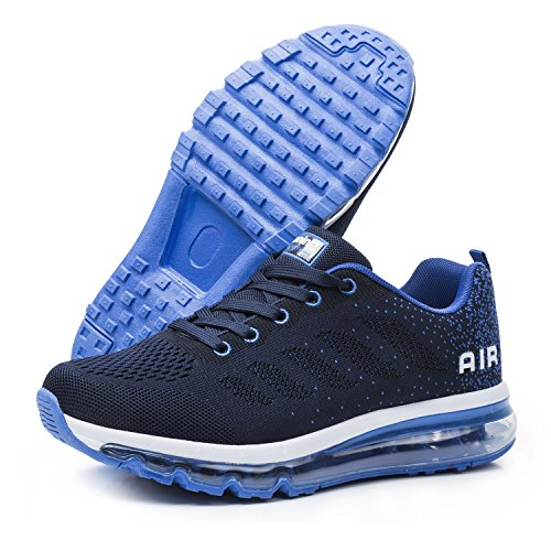 Running Blau Shoes 45 Sportschuhe Unisex Bequeme Laufschuhe 35 Damen Sneakers Herren Schnürer Air qzxwa78Ox