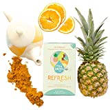REFRESH Detox Cleanse Tea Sprinkles | Reduce Bloating Slim Tummy Weight Loss Laxative-Free | Organic Delicious Blend of Turmeric, Pineapple, Orange Peel | Cleansing 12-Pack Review